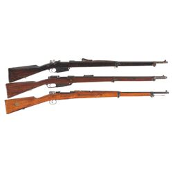 Three Military Bolt Action Rifles