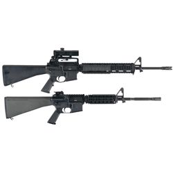 Two AR-15 Pattern Semi-Automatic Rifles