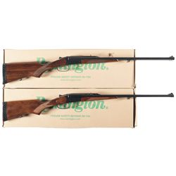 Two Boxed Remington SPR22 Side by Side Rifles