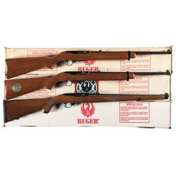 Three Boxed Ruger Semi-Automatic Carbines
