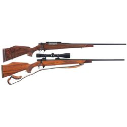 Two Weatherby Bolt Action Rifles