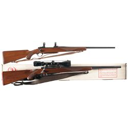 Two Ruger M77 Bolt Action Rifles