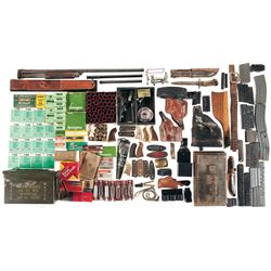 Handgun Range Box, Miniature Cannon, Knives, Holsters  Miscellaneous Ammunition and Other Assorted I