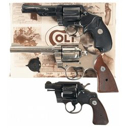 Three Colt Double Action Revolvers