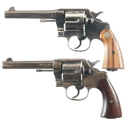 Two Colt Double Action Service Revolvers