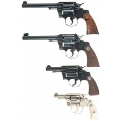 Collector's Lot of Four Colt Double Action Revolvers
