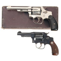 Collector's Lot of Two Smith & Wesson .32 Hand Ejector Double Action Revolvers