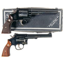 Two Smith & Wesson .22 Caliber Double Action Revolvers