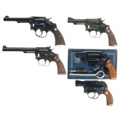 Collector's Lot of Five Smith & Wesson Double Action Revolvers