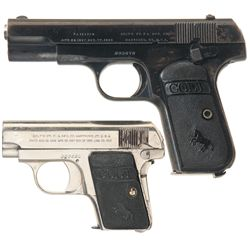 Two Colt Semi-Automatic Pistols A) Colt Model 1903 Hammerless Pocket Pistol