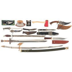 Grouping of Swords and Edged Weapons