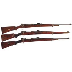 Collector's Lot of Three German Gew 98 Bolt Action Rifles
