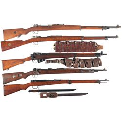 Five Bolt Action Rifles
