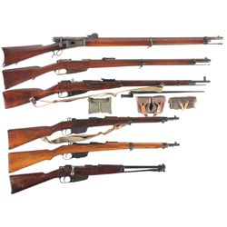 Six Bolt Action Rifles