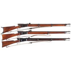 Three Vetterli Bolt Action Rifles