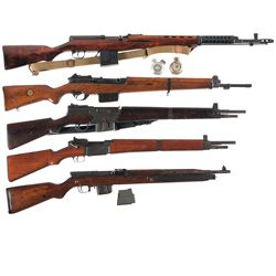 Five Military Rifles