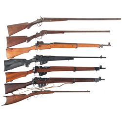Two Shotguns and Five Rifles