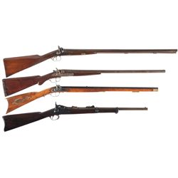 Four Long Guns with Miscellaneous Items