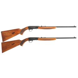 Two Belgian Browning .22 Caliber Semi-Automatic Rifles