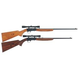 Two Belgian Browning Semi-Automatic Rifles