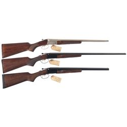 Three Stoeger Side by Side Shotguns with Original Boxes