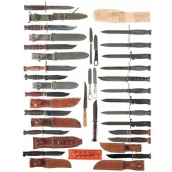 Grouping of U.S. Bayonets and Fighting Knives