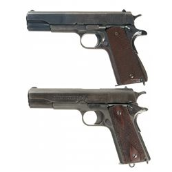 Two U.S. Property Marked Model 1911 Semi-Automatic Pistols with Boxes