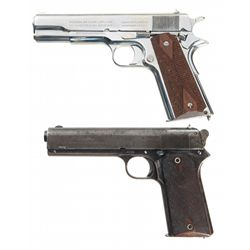 Two Colt Semi-Automatic Pistols with Boxes