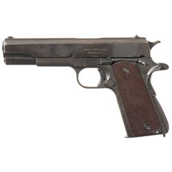 U.S.  Ithaca Model 1911A1 Semi-Automatic Pistol with Holster, Magazine Pouch and Three Extra Magazin