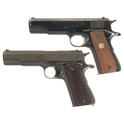 Two 1911 Style Semi-Automatic Pistols - A) Colt MK IV Series 70 Government Model Pistol