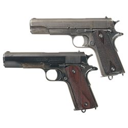 Collector's Lot of Two U.S. Colt Model 1911 Semi-Automatic Pistols