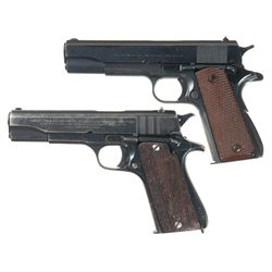 Two Argentinean Military 1911 Style Semi-Automatic Pistols