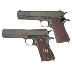 Two Argentinean Contract Colt 1911A1 Semi-Automatic Pistols