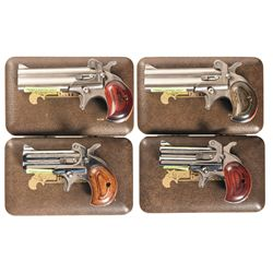 Four American Derringer Over/Under Derringers