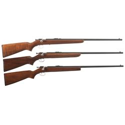 Three Winchester Bolt Action Rifles