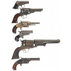 Six Antique Handguns