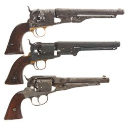 Three Antique Revolvers