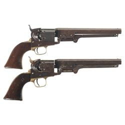 Two Colt Model 1851 Navy Percussion Revolvers