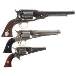 Collector's Lot of Three Antique Revolvers