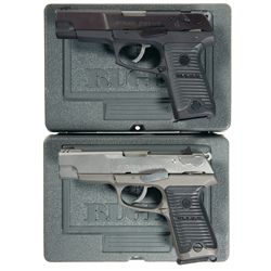 Two Ruger Semi-Automatic Pistols with Cases