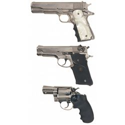 Two Semi-Automatic Pistols and One Revolver