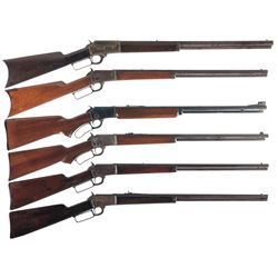 Six Marlin Lever Action Rifles