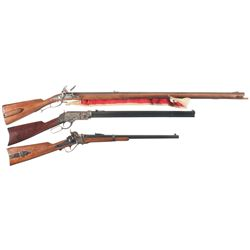 Three Reproduction Long Guns