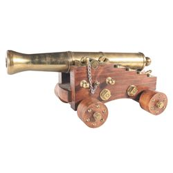 Miniature Brass Cannon with Carriage