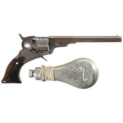 Reproduction of a Patent Arms Paterson Percussion Revolver, Two Colt Flasks and a Custom Powder Horn