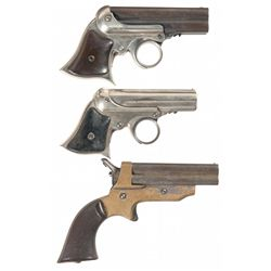 Three Antique Pocket Hand Guns