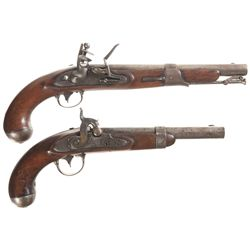 Two Antique Martial Pistols