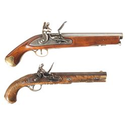 Two Flintlock Pistols and Cannon