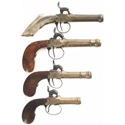 Four Brass Percussion Pistols