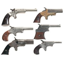 Six Antique Hand Guns